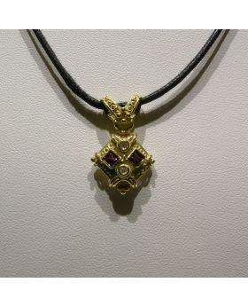 LSAU008-AU - Pendente in oro 750/°°° con Ametista