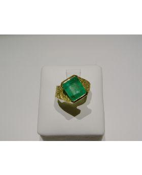 LSAU023 - Anello in Oro con Smeraldo naturale CT. 3,43