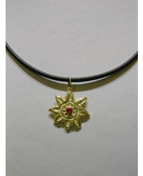 LSAU033 - Pendente in Oro750/°°° con Rubino naturale