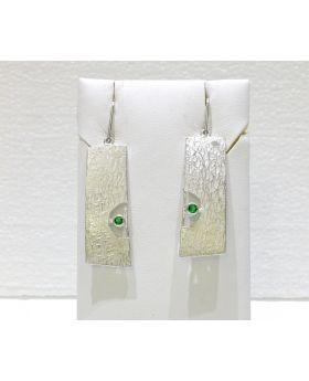 O103 - Orecchini in Argento 925/°°° con Smeraldi