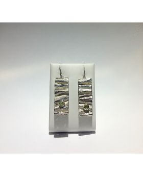O088 - Orecchini in Argento 925/°°° con Peridoto